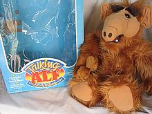 Two Coleco Talking TV Alf dolls:- Boxed / played