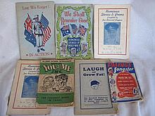 Mixed thirteen Vintage Booklets 1921- 1957