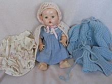 A 1950s 31cm Effanbee Dy-Dee baby with mixed