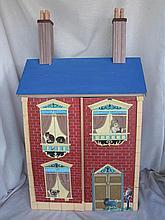 Balsa wood Dolls House 46cm W X 33D X 79H with