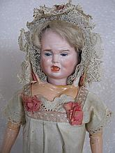 All original antique Carl Bergner three face doll