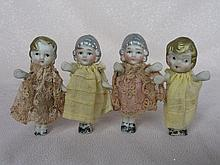 Eight mixed vintage cabinet dolls:- Four German