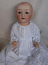Bisque 48cm Japanese dome head baby doll