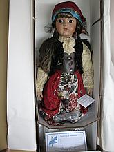 MIB light brown porcelain doll, LE338/1000 Premiere Artist Collection