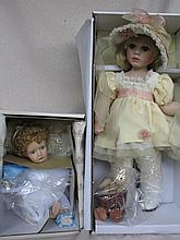 Two all original tagged MIB artist porcelain dolls:- Ashton Drake 30cm Every Cloud has a Silver Lini