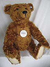 Large limited edition 1573/1906 white label 1999 Steiff 'Teddy Bear 1906' brown mohair 70cm fully jo