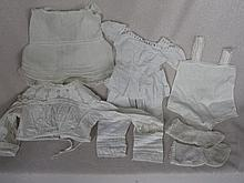 Mixed smaller antique infant & Doll whitewear includes:- night wear, toddler dress, petticoat, chemi