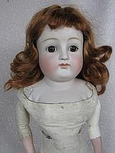 German pale antique c1880-90s bisque shoulderhead 17.5
