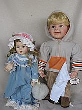 Mixed Seven (7) mostly Porcelain modern Artist & Reproduction dolls includes:- Croquette, Hamilton,