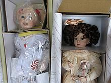Two MIB artist porcelain dolls:- Georgetown 'Sophie & her Bru' 43cm. LE Artist International 'Katie'