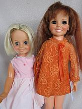 Two 1960s Ideal Crissy Dolls:- 2nd Crissy in o/ orange mini - Velvet in replaced clothes.