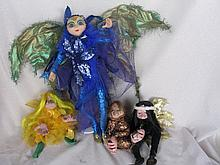 Mixed sixteen dolls includes:- TV Kylie Mole, Australian Artist Cloth dolls, Australian Artist Drado