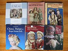 Six Doll Reference Books:- Bru book, S&Halbig; and JD Kestner by Foulke, Jumeau by Theriaults & Whitt