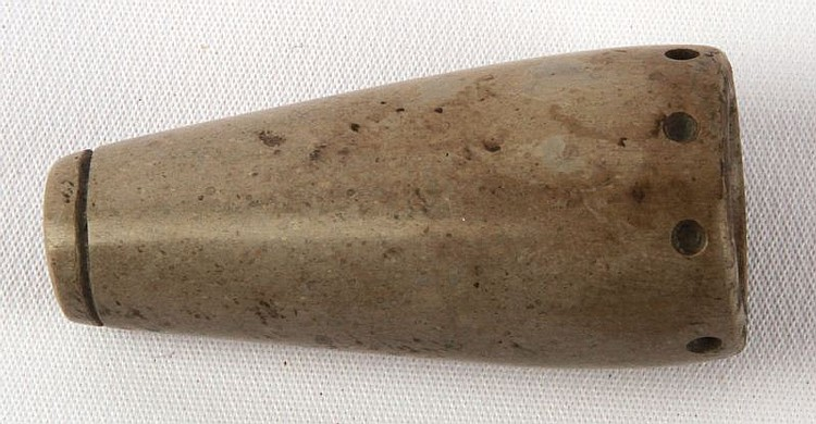 WOODLAND PIPESTONE SHAMAN OR TUBE PIPE