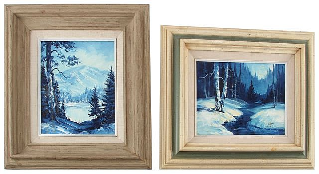 PAIR OF ORIGINAL OIL PAINTINGS SIGNED BY WALT