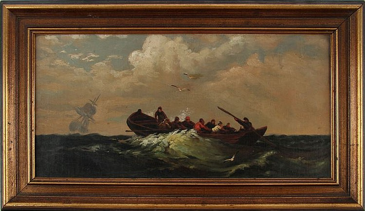 SEA FARING ORIGINAL OIL ON BOARD PAINTING