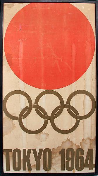 YOSUKE KAMEKURA 1964 OLYMPIC GAMES, TOKYO POSTER