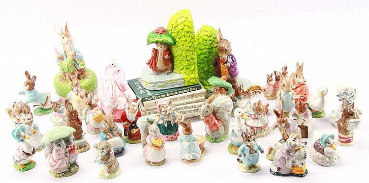 MIXED LOT OF BESWICK BEATRIX POTTER'S AND MORE