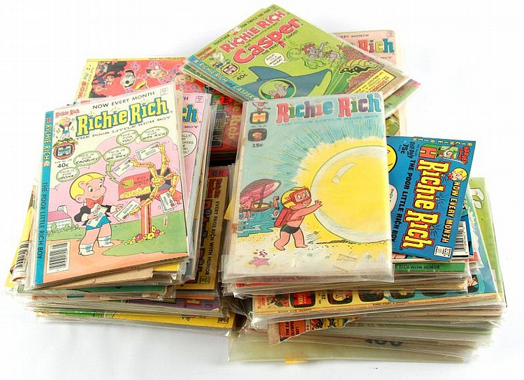 HUGE COLLECTION OF RICHIE RICH HARVEY COMICS