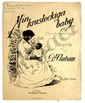 MIN KRUSLOCKIGA BABY SWEDISH RACIST SHEET MUSIC