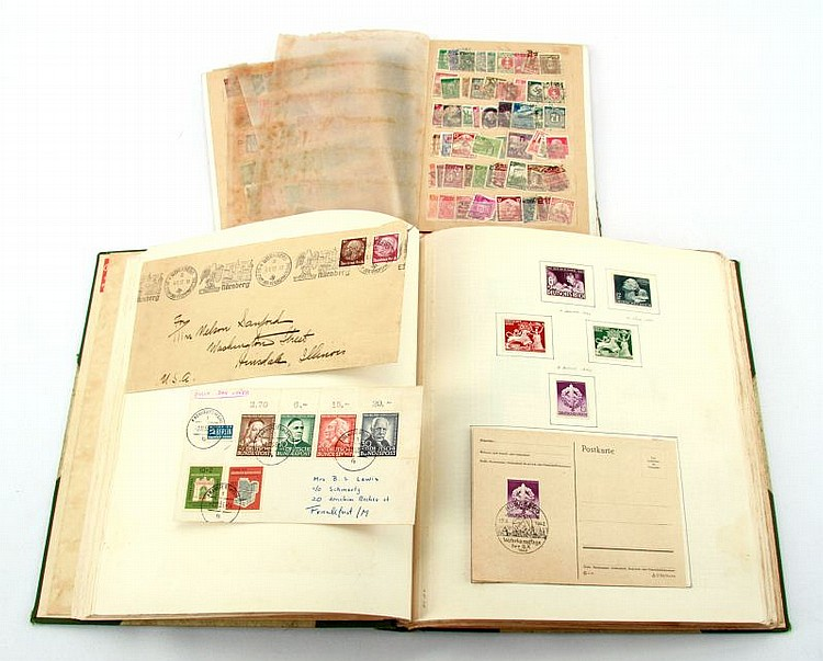 IMPERIAL TO WWII GERMAN STAMP COLLECTION 2 BOOKS
