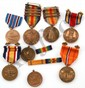 WWII US LOT OF 8 MILITARY MEDALS, AND 3 BARS