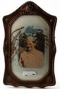 WWII SOLDIER CONVEX FRAME & PHOTO IDENTIFIED