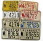8 VINTAGE ALABAMA MOTORCYCLE LICENSE PLATES