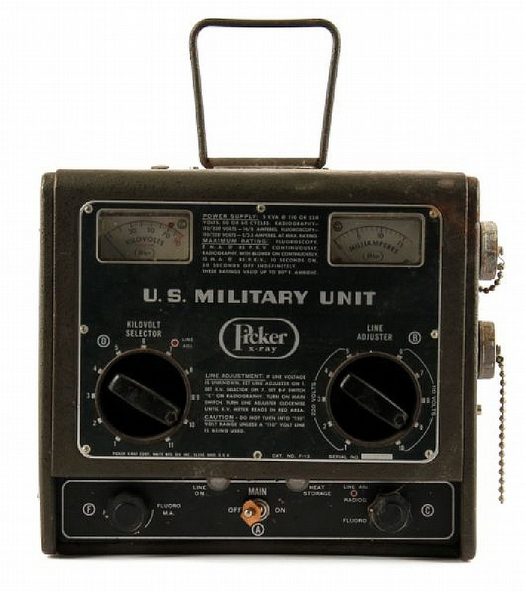 WWII US MILITARY PICKER X-RAY FIELD UNIT