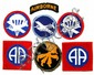 7 WWII 82ND AIRBORNE PATCHES & VET DOCUMENTATION