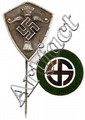WWII SWEDISH AND HUNGARIAN NAZI PARTY PINS