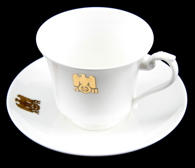 ADOLF HITLER MONOGRAM SS ALLACH CUP AND SAUCER