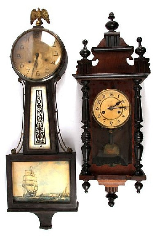 PAIR OF VINTAGE WALL CLOCKS