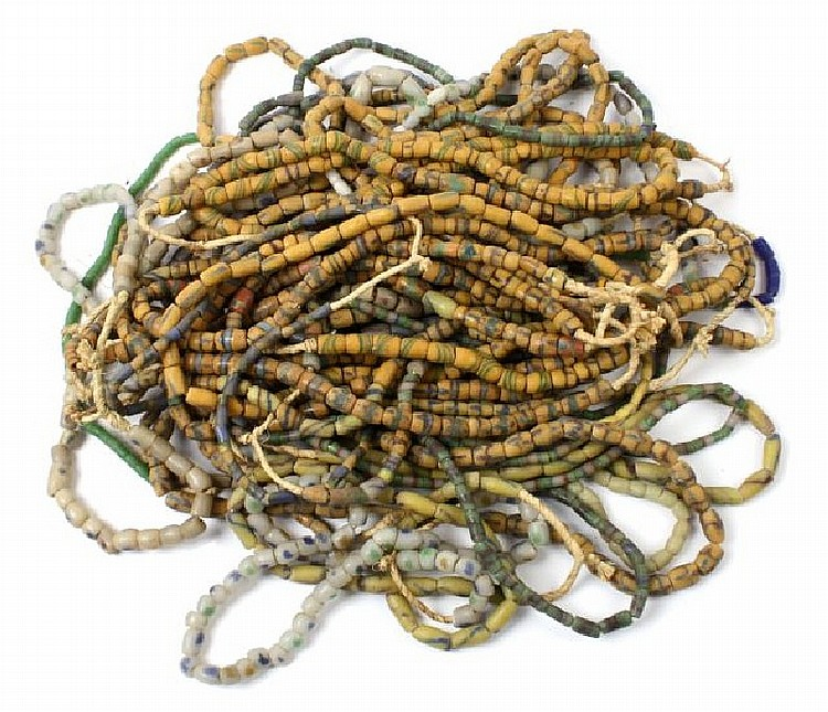 COLLECTION OF 36 AFRICAN TRADE BEAD STRANDS