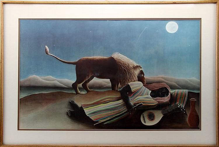 HENRI ROUSSEAU POSTER-PRINT SLEEPING GYPSY