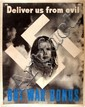 22x28 WWII WAR BOND POSTER DELIVER US FROM EVIL