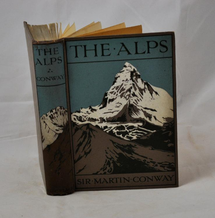 CONWAY (Sir Martin). The Alps. Londres, Adam et Charles Black, 1910. In-8, cartonnage percaline illustrée de l'éditeur.