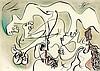 André Masson (1896-1987) L'Amour dans les ruines ; [Compositions érotiques]. Vers 1970. Lithographie. Chaque env. 600-700 x 500-600. Impression en couleurs. Parfaites épreuves sur vélin, la plupart justifiées « E.A », deux numérotées, toutes signées
