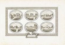 [GAITTE (A.-J.)]. Recueil de vues sur Paris. Paris, L'Auteur, s. d. (vers 1790), in-folio oblong, veau moucheté, filets dorés autour des plats, dos à nerfs orné, tranches rouges (reliure ancienne).