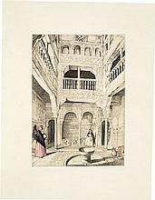 LEWIS (J. Fr.). Lewis's Sketches and Drawings of the Alhambra Made during a Residence in Granada in the Years 1833-1834. London, Hodgsong & Graves, s.d. [1835], in-folio en ff., étui, chemise.