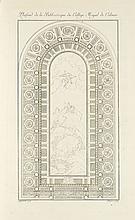 IXNARD (M. d'). Recueil d'architecture représentant en 34 planches, palais, châteaux, hôtels, maisons de plaisances,... plusieurs jardins à l'anglaise..., exécutés tant en France qu'en Allemagne... Strasbourg, Varsovie, Treuttel - Jombert - Rossets -