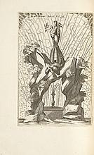 [MENESTRIER (Cl. Fr.)]. Les Réjouissances de la paix faites dans la ville de Lyon le 20 mars 1660. Lyon, G. Barbier & Justet, 1660, grand in-4°, maroquin havane, filets dorés autour des plats, armes au centre, dos à nerfs orné d'un chiffre entrelacé,