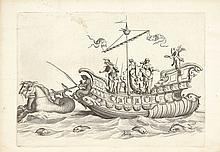[MACHAULT]. Éloges et discours sur la triomphante réception du roy en sa ville de Paris... Paris, Rocolet, 1629, in-4°, veau granité, dos à nerfs orné, tranches mouchetées (reliure de l'époque).