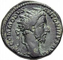 As d'Auguste, dupondius de *Commode, Sesterces d'Alexandre-Sévère et de *Maximin, folles (2), folles réduits et nummi (5). Bronze. Lot de 11 monnaies.