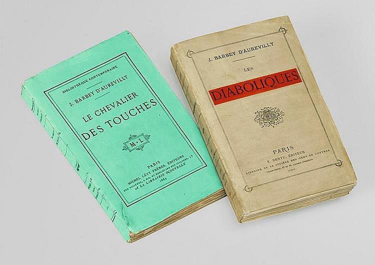BARBEY D'AUREVILLY (Jules). Les Diaboliques. Paris, E. Dentu, 1874. In-12, broché, chemise demi-maroquin rouge avec rabats et dos à faux nerfs, étui bordé (A. Devauchelle).