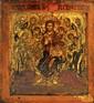DEISIS Ce terme grec qui signifie prière, intercession, désigne le groupe formé par le Christ entouré de sa Mère et de saint Jean Baptiste dans l'attitude antique de la supplication. Derrière Marie et saint Jean se trouvent réunis quatre apôtres,