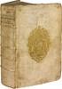 ATHÉNÉE DE NAUCRATIS. Deipnosophistarum libri quindecim. Lyon, Jacques-Antoine Huguetan et Marc-Antoine Ravaud, 1657. - CASAUBON (Isaac). Animadversionum in Athenæi Dipnosophistas libri quindecim. Ibid., id., 1664. In-folio, vélin rigide, large