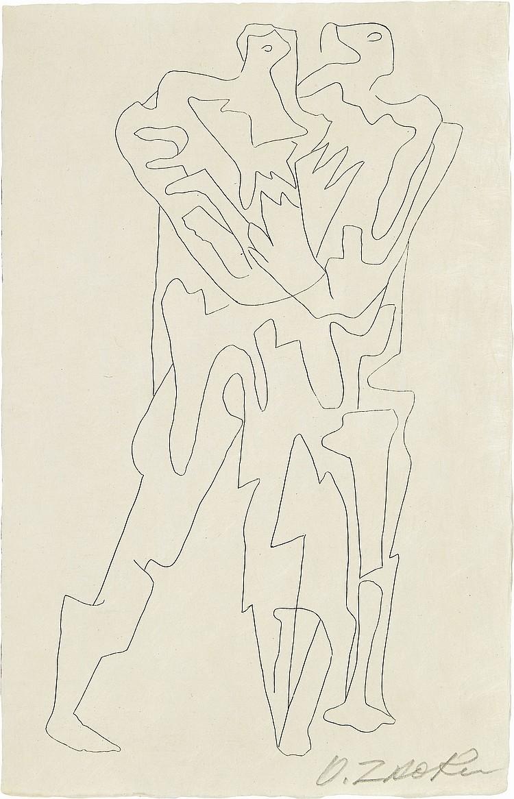 GANZO (R.) - ZADKINE (O.). Lespugue. [Paris], Marcel Sautier, [1966], in-8°, en ff., couverture, chemise et étui d'éditeur.