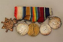 Grouping of British Medals - WWI