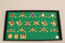 Group of American Hat and Collar Insignia